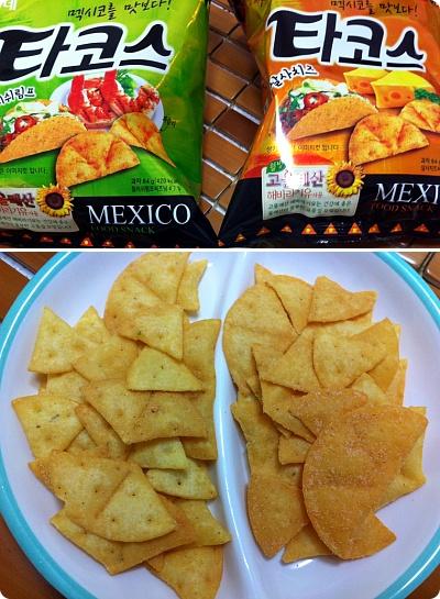 メキシコ風の韓国お菓子「タコス」