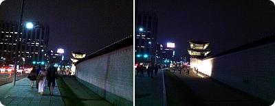 ソウル光化門(クァンファ門)の美しい夜!
