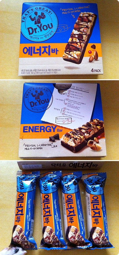 活力充電おやつ、Dr.You 「ENERGY BAR」