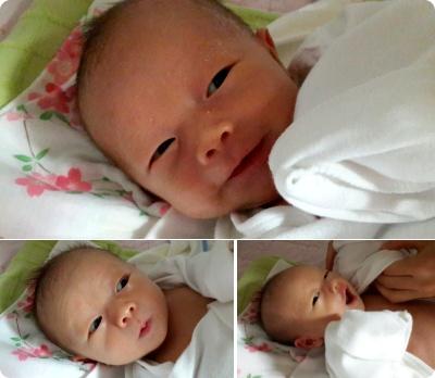 甥に会いに、初めて産後調理院に訪問!