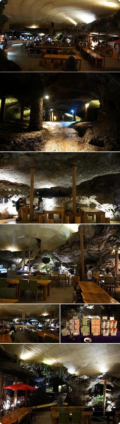 チェジュ島には洞窟の中にカフェがある!