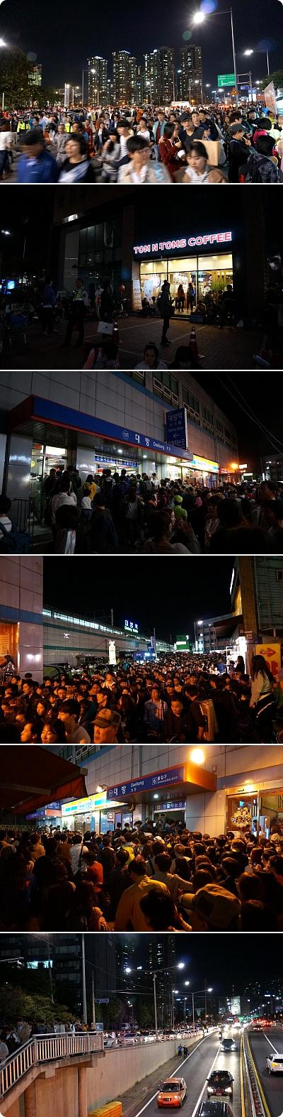 ソウル花火大会の後2時間を歩いて家に、花火の後遺症