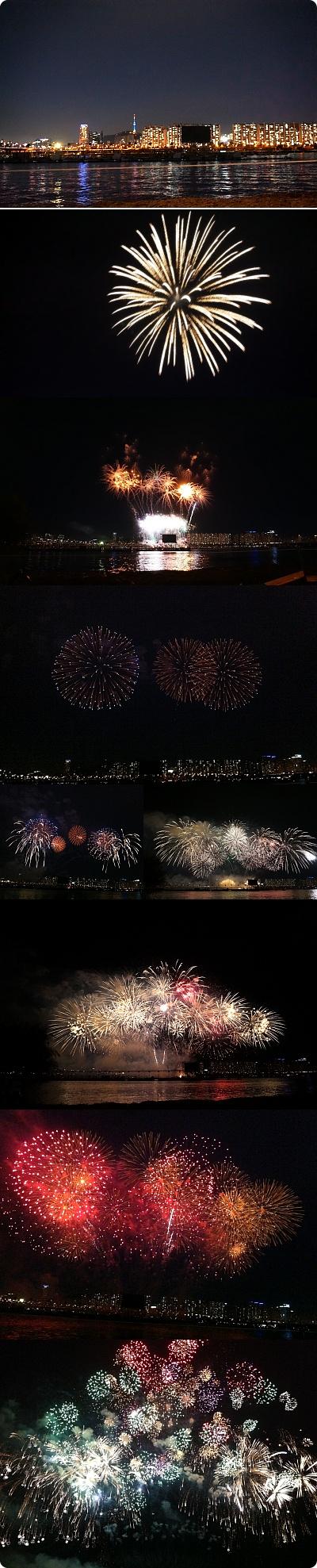 【映像添付】超ベストポジションで楽しんだ「ソウル世界花火大会」
