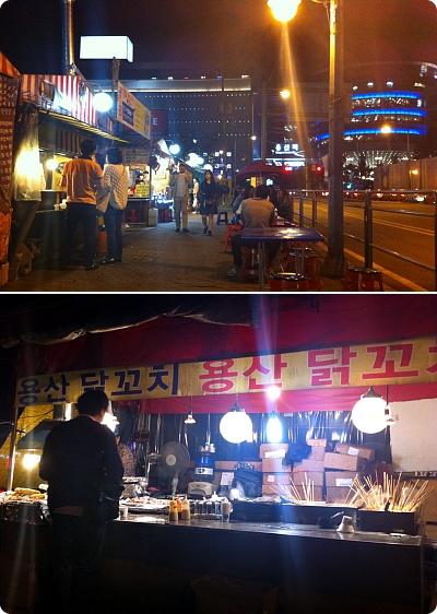 女子3人でヨンサン屋台通りで食べた焼き鳥