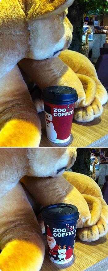 かわいい!zoocoffeeのクリスマス限定カップ!