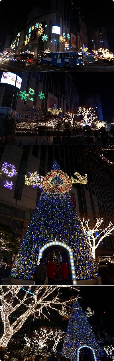 今年の明洞ロッテホテルのクリスマス・イルミネーション