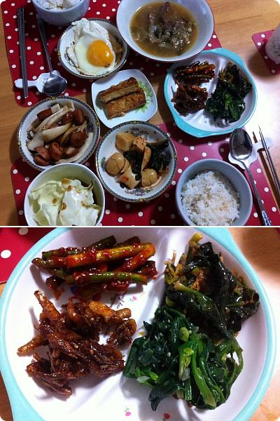 韓国の若い夫婦のうちご飯、こんな感じじゃないかな?