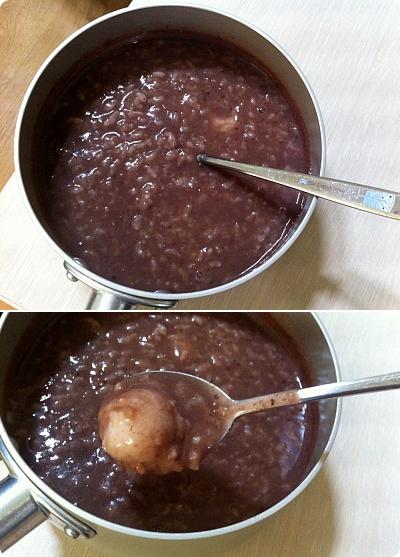 冬至(昨日)に食べたあずき粥(パッチュッ)!