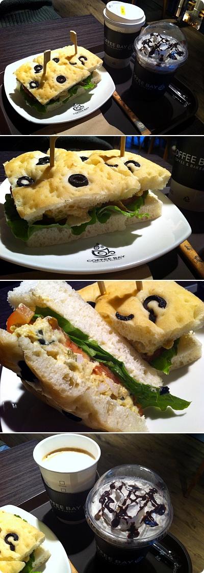 低価格コーヒーチェーン「coffeebay」サンドイッチがおいしい!