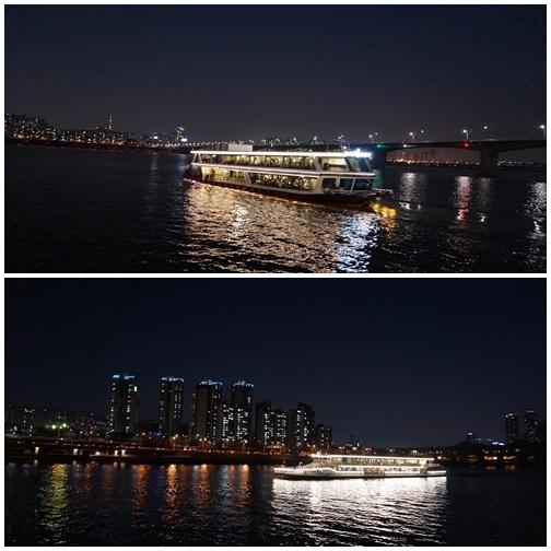 ハンガン遊覧船で観賞する夜のレインボー噴水!