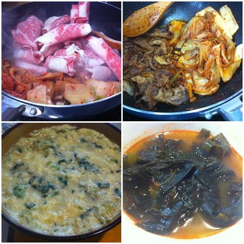 チャドルバギ(あばら肉の焼肉)とキムチ炒めでおいしいうちご飯!