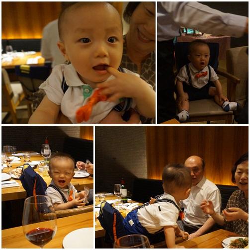 甥の(「トルジャンチ」:一歳の誕生日パティー)THE PLAZAホテルで