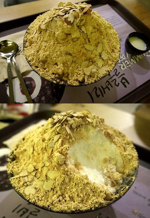 「ソルビン(雪氷)明洞店」きな粉餅かき氷が人気!