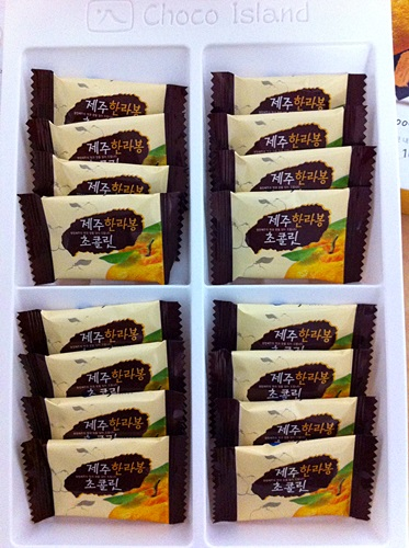チェジュ島の人気お土産「ハルラボンチョコレート」