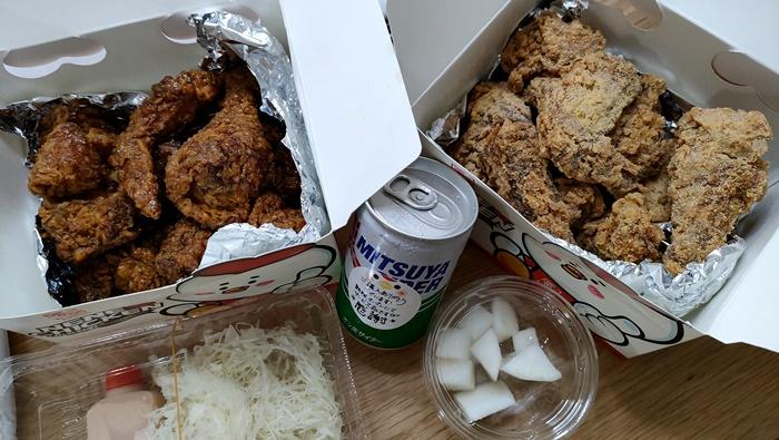 ネネチキン博多店でテイクアウト!韓国人もおいしく食べた!